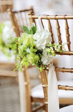 Natural chair decor for beach wedding, 2014 beach wedding chair decoration www.loveitsomuch.com