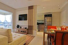 Decorado 64m² - Sala de estar/jantar