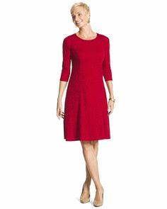 Medallion red dress