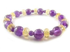 BA4853 Amethyst Citrine Healing Natural Crystal Stretch Bracelet - See more at: http://waggashop.com/wagga-shop-ba4853-amethyst-citrine-healing-natural-crystal-stretch-bracelet