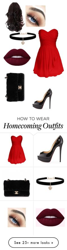 """Untitled #251"" by elena-horror999 on Polyvore featuring Christian Louboutin, Chanel and Betsey Johnson"