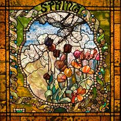 """Four Seasons """"Spring"""" by Louis Comfort Tiffany"""