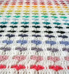 Crochet heart blanket! -link to tute at one sheepish girl-