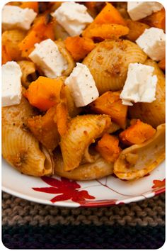 Butternut squash and feta cheese pasta #netmums #recipes