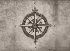 Compass rose tattoo.