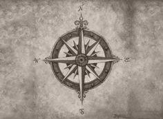 Compass rose tattoo.