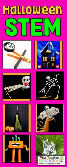 Halloween STEM 2d Shapes Activities, Spelling Activities, Stem Activities, Activities For Kids, Teaching Science, Teaching Tools, Teaching Materials, Science Lessons, Teaching Ideas