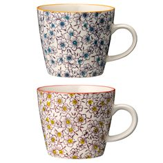 flower mugs from Bloomingville.  www.bloomingville.com