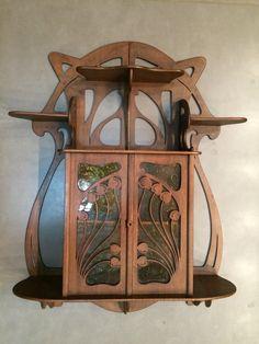 Small Art Nouveau Wall Cabinet by Eugene Gaillard.