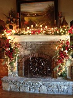 Christmas Mantle By ME