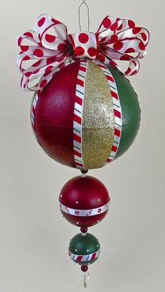Lisa Liza Lou Designs - Giant Christmas ornament with Americana paints and Smoothfoam
