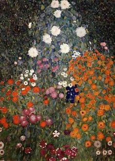 Flower Garden by Gustav Klimt (1905-1907).