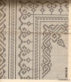 Cross Stitch Borders, Cross Stitch Flowers, Cross Stitch Charts, Cross Stitching, Cross Stitch Patterns, Needlepoint Patterns, Embroidery Patterns, Ribbon Embroidery, Cross Stitch Embroidery