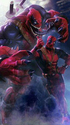 It's Deadpool (Relationship Comics) Marvel Art, Marvel Heroes, Marvel Avengers, Marvel Venom, Deadpool Wallpaper, Avengers Wallpaper, Naruto Wallpaper, Dead Pool, Venom Pictures