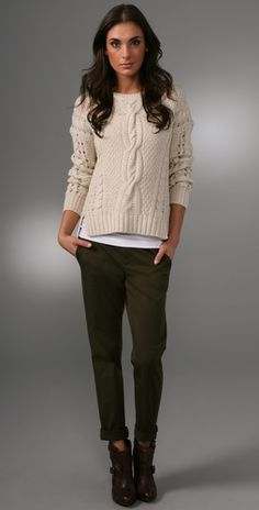 Wore a similar outfit yesterday with coach lucia boots and old navy pixie pants,