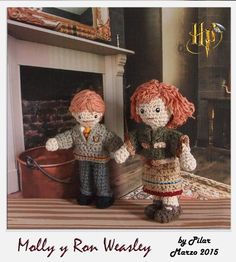 #amigurumi Harry Potter, Ron, Molly