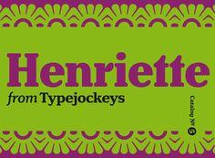 Wiener Straßenklassiker:  Die Neuinterpretation einer klassischen Wiener Schrift, gestaltet von Michael Hochleitner. Henriette gibt es als OpenType-Schrift (31 Fonts) oder als Webfont (30 Fonts).
