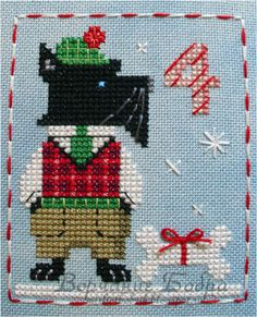 It's Duncan Dog! in the Brooke's Books Advent Animals Cross Stitch Freebies… Cross Stitch Freebies, Cross Stitch Charts, Cross Stitch Designs, Cross Stitch Patterns, Cross Stitching, Cross Stitch Embroidery, Embroidery Patterns, Dog Crafts, Scottish Terrier