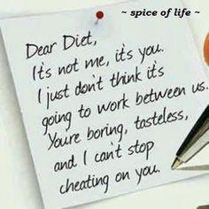 My version of a Dear John letter !