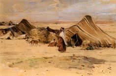 Campement arabe à Biskra von Edouard Edmond Doigneau