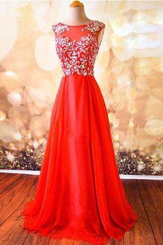 Modest prom dress,hot pink chiffon prom dress, beautiful long prom dress for teens