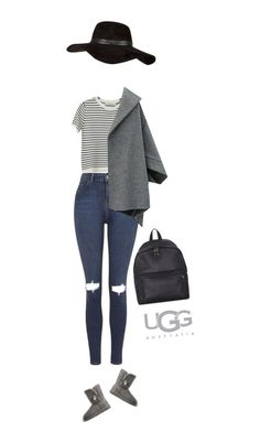 """""""School year by UGGS !"""" by azzra ❤ liked on Polyvore featuring Topshop, Chicnova Fashion, UGG Australia, Eastpak and River Island"""