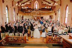 Confetti toss after the ceremony!  This is fantastic.  | Columbus Ohio Wedding Venue | Ohio Village Wedding