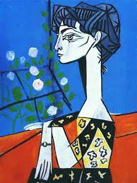 Avant la période rose... la période bleue de Picasso. Tableau de Jacqueline un de mes favoris