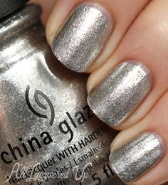 A look at the Gossip Over Gimlets set from the China Glaze Autumn Nights nail polish collection for Fall 2013 Nail Polish Designs, Nail Polish Colors, Nail Designs, Hot Nails, Hair And Nails, Silver Nail Polish, Polish Names, Daily Nail, Nail Polish Collection
