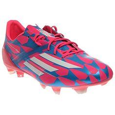 Adidas F50 Adizero FG M17677 Pink/Blue/White Messi Soccer Men's 3D Boots Cleats (size 7.5)