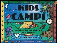 This book has over 100 original ideas for keeping little campers happy and engaged with the nature around them. #gift