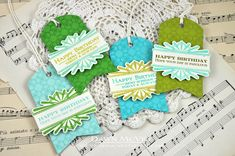 Could make these with the leftover pieces from the door hangers/Christmas - Birthday Gift Tags by Dawn McVey for Papertrey Ink (November 2013)