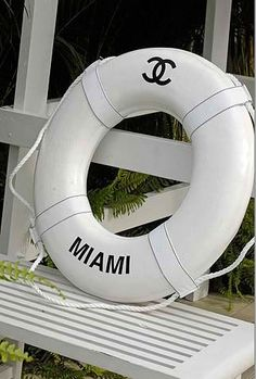 if you need a life preserver, it might as well be chanel