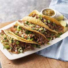 Mexican Tacos Carnitas From Better Homes and Gardens, ideas and improvement projects for your home and garden plus recipes and entertaining ideas.