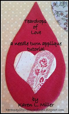 Karen's Quilts, Crows and Cardinals: Teardrops of Love Part 4: Points Inside and Out