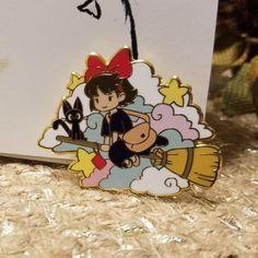 Kiki's Delivery Service Kiki and Gigi pin by SanCariCraft Totoro, Stickers, Jacket Pins, Cool Pins, Pin And Patches, Hard Enamel Pin, Metal Pins, Pin Badges, Studio Ghibli
