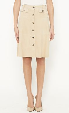 Theory Beige Skirt