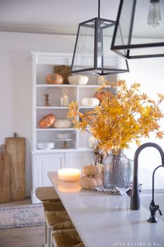 Cozy Fall Decorating Ideas - Ella Claire & Co. Fall Home Decor, Autumn Home, Easy Family Meals, House Tours, Beautiful Homes, Bookcase, Design Inspiration, Cozy, Fall Decorating