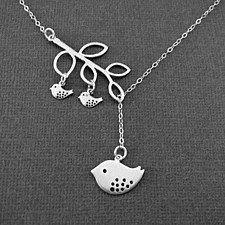 Blessed - Birds On The Branch Necklace When we have a place to live, we call it our home when we have someone to love, we call it our family and we have both by the grace of god, we are truly blessed!