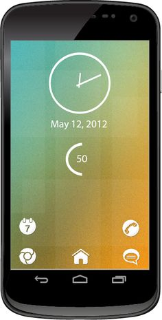 Learn how to create this theme for your phone http://androidome.com/minimal-vintage-style-theme-for-your-android-smartphone/