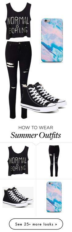 """60-Second Outfit"" by design-licious on Polyvore featuring Miss Selfridge and Converse"