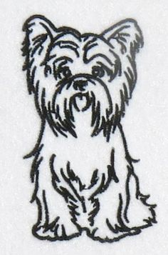 Yorkshire Terrier Dog Yorkie Embroidery Design | Apex Embroidery Designs, Monogram Fonts & Alphabets