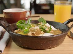 This Austin fixture has built a loyal following with its fresh take on traditional Mexican cuisine. One vibrant brunch dish brings unexpected flavors to a breakfast classic: huevos rancheros. In this version, the fried eggs are accompanied by slow-roasted chicken, crisped potatoes and bacon paste.