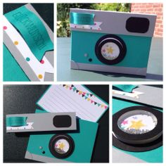 Mini Albums, Diy Paper, Paper Crafts, Happy Birthday Cards Handmade, Camera Cards, Happy Photography, Birthday Gifts For Best Friend, Tampons, Creative Gifts