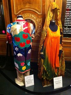 """Times Square Visitor's Center.  Costumes in the style of """"Joseph and the Amazing Technicolor Dreamcoat"""" and """"Jesus Christ Superstar"""".  Costumes styled by Stephen Cabral, Director, TDF Costume Collection"""