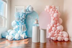 Gender Reveal Party Decorations, Balloon Decorations Party, Baby Shower Decorations, Balloon Backdrop, Birthday Decorations, Gender Party, Baby Gender Reveal Party, Unisex Baby Shower, Baby Boy Shower