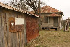 Old House and Barn In San Antonio, Texas Arlington Texas, Old Barns, Ghost Towns, San Antonio, Homesteading, Abandoned, Past, Shed, Barn Houses