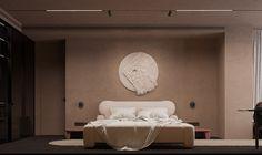 Live Minimalism | Interior Project | Yakusha Design Interior Architecture, Interior Design, Artistic Installation, Hotel Bed, Bathroom Sets, Textured Background, Minimalism, Layout, Tapestry