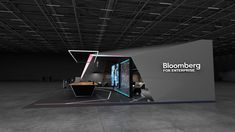 Bloomberg exhibition booth design concept     GM stand design