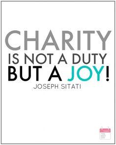 CHARITY IS JOY